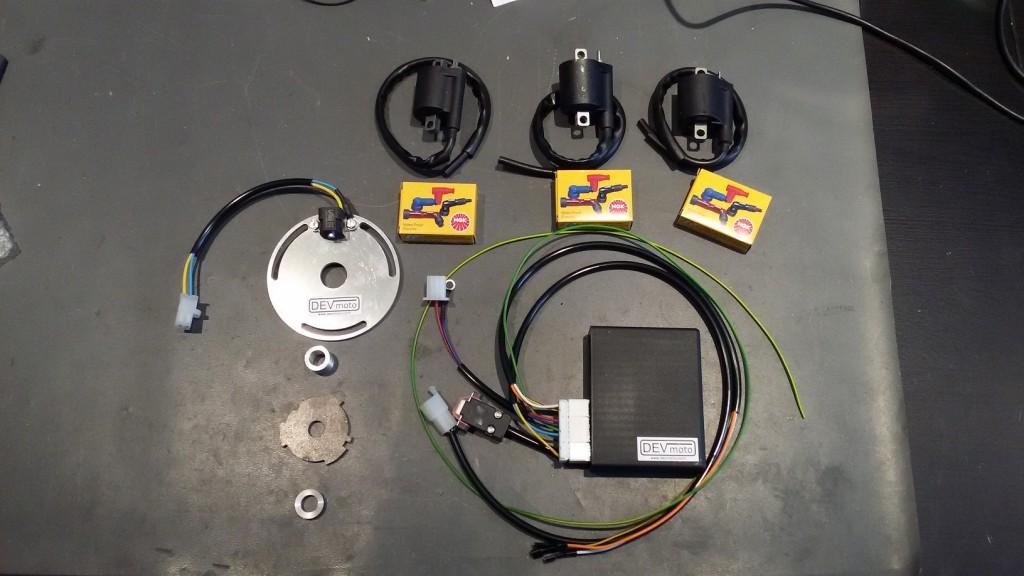 Suzuki GT750 DEVmoto ignition kit